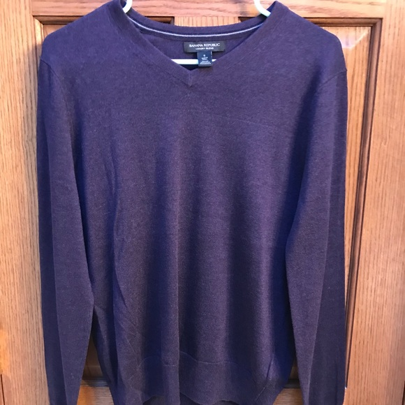 professional sale official shop top-rated official Men's Banana Republic Luxury Blend Purple Sweater